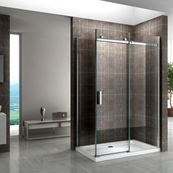 VIOLA - Frontal de duche com porta de correr em vidro temperado de 8 mm - Vários tamanhos