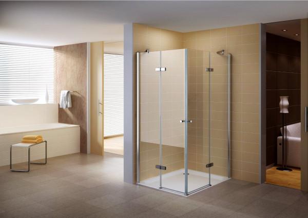 Cabine de duche de canto em vidro temperado de 8 mm transparente - TODOS OS TAMANHOS #851
