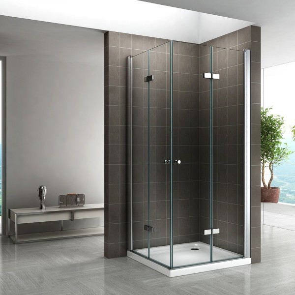 EMMA - Cabine de duche com portas dobráveis em vidro temperado