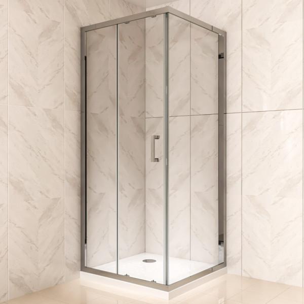 DORA - Frontal de duche com portas de correr em vidro temperado