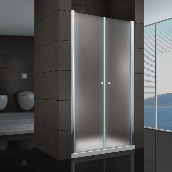 Porta de duche em vidro temperado fosco de 6 mm - TODOS OS TAMANHOS