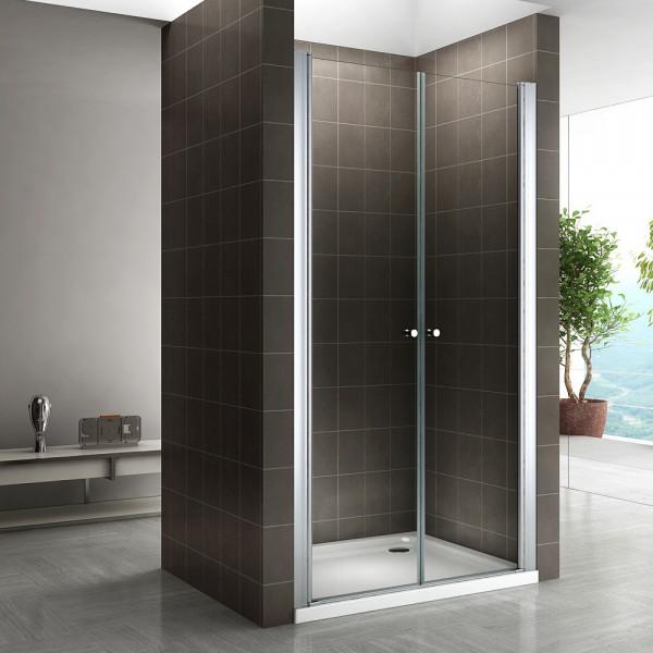 Porta de duche em vidro temperado transparente de 6 mm - TODOS OS TAMANHOS