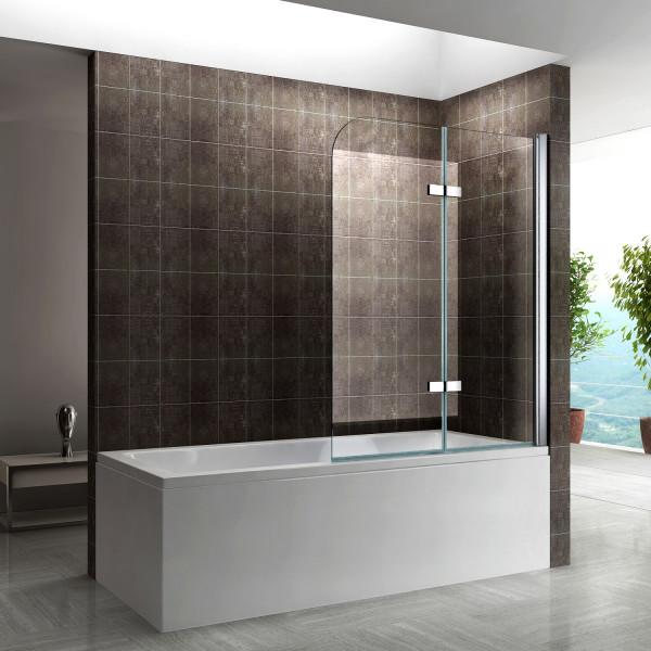 ANITA - Divisória para banheira em vidro temperado de 6 mm DK809 - Vários tamanhos