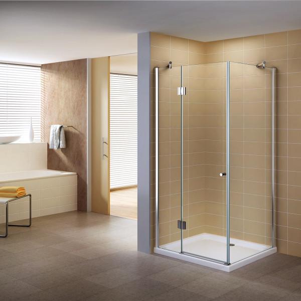 Cabine de duche com entrada frontal em vidro de segurança de 8 mm transparente - TODOS OS TAMANHOS #