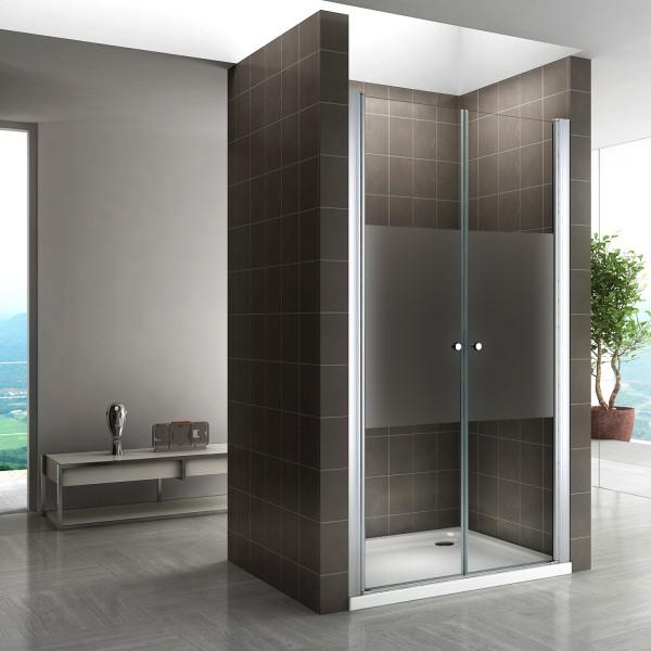 Porta de duche em vidro temperado de 6 mm meio fosco - TODOS OS TAMANHOS